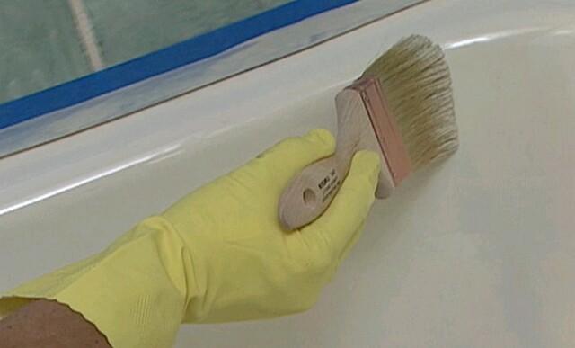 Восстановление эмали на ванне своими руками