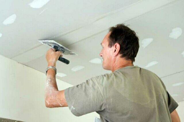 Как сделать шпаклевку на потолке 616