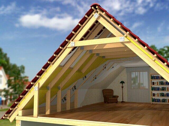 Как сделать мансардную крышу фото 974